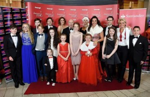 "Cast and crew of ""A Christmas Star"" on the red carpet"
